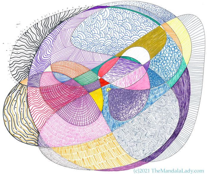 Doodle Mandala: Trust